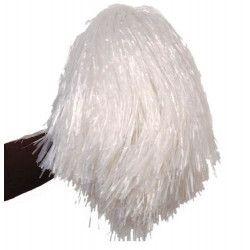 Pom Pom girl avec poignée blanc Accessoires de fête AC1310BLANC