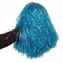 Pom Pom girl avec poignée bleu Accessoires de fête AC1310-BLEU