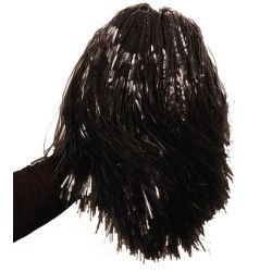 Pom Pom girl noir avec poignée Accessoires de fête AC1310NOIR