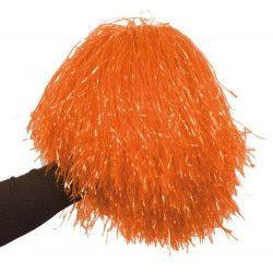 Pom Pom girl orange avec poignée Accessoires de fête AC1310-ORANGE