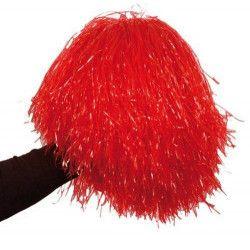 Pom Pom girl rouge avec poignée Accessoires de fête AC1310ROUGE