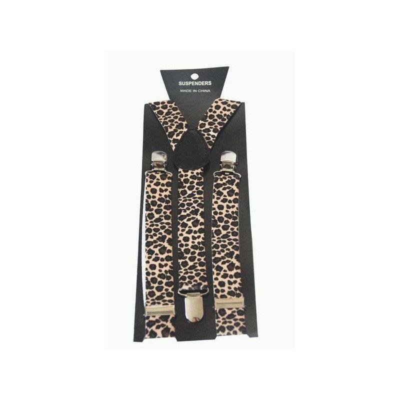 Bretelles léopard années 80 Accessoires de fête AC1565