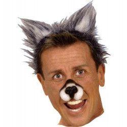 Serre tête oreilles de loup poilues Accessoires de fête AC5138