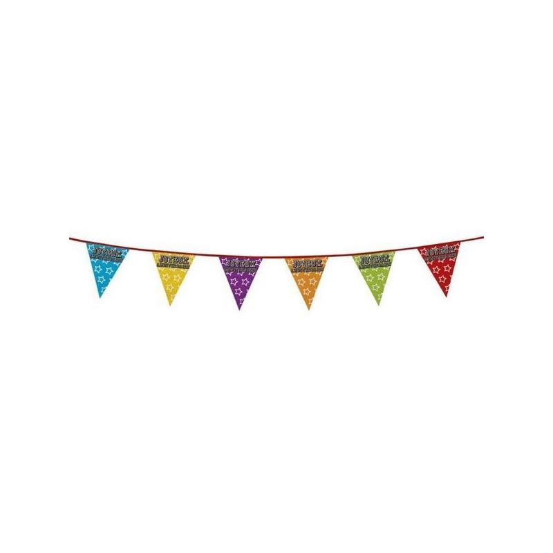 Guirlande de fanions holographique Joyeux Anniversaire Déco festive B30103