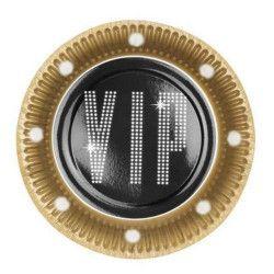 Set de 6 assiettes VIP jetables Déco festive B44170