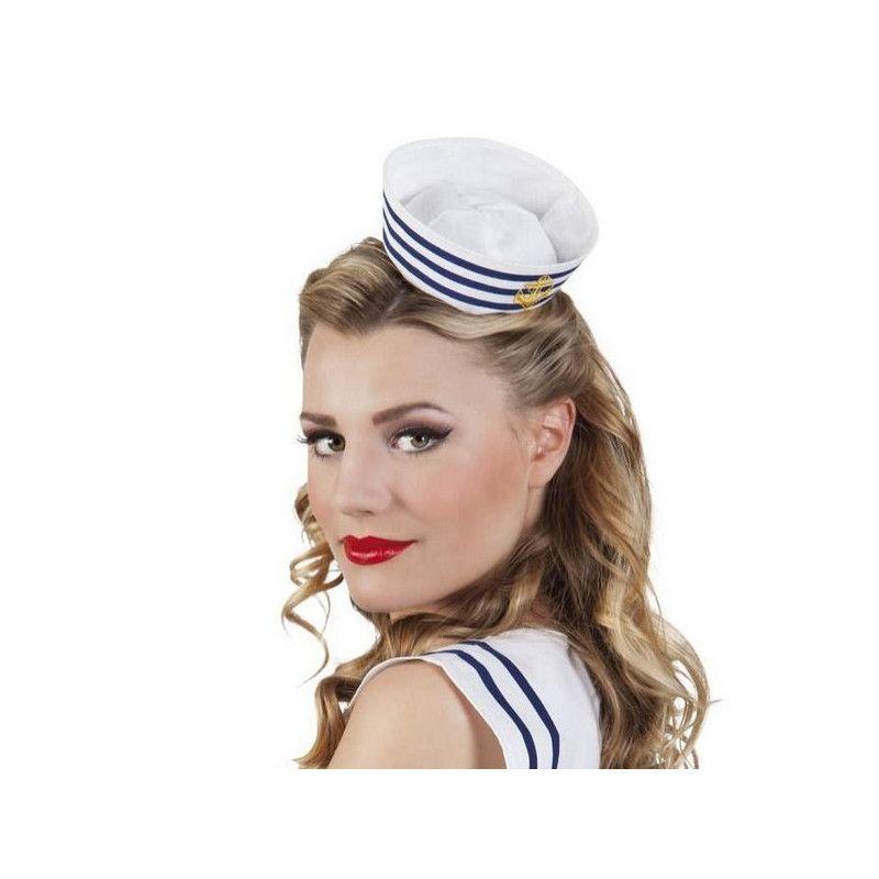 Mini coiffe de marin avec serre-tête Accessoires de fête B44356