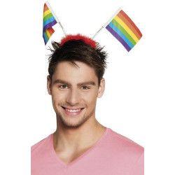Déco festive, Serre-tête avec drapeaux arc-en-ciel, B44725, 3,90€