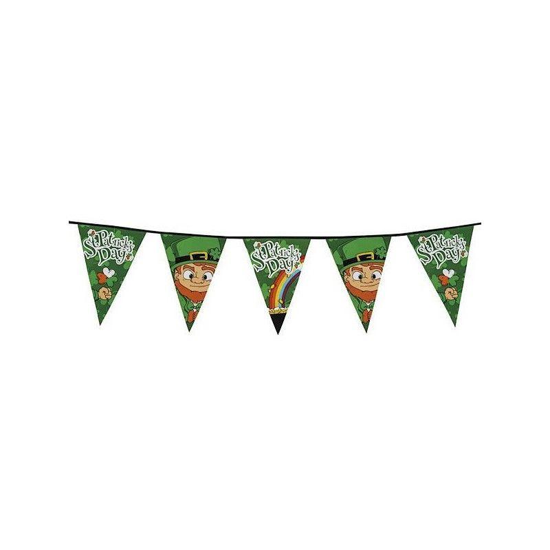 Guirlande fanions St Patrick's Day 8 m Déco festive B44900
