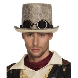 Chapeau haut de forme Steampunk adulte Accessoires de fête B54513