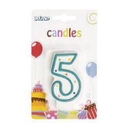 Bougie anniversaire chiffre 5 Déco festive B63405