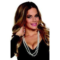 Accessoires de fête, Collier de grandes perles blanches, B64283, 2,90€