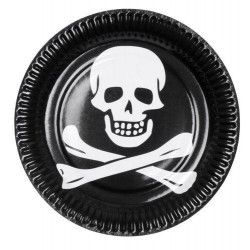 Assiettes jetables Pirate 23 cm Déco festive B74167