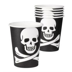 Gobelets jetables pirate 25 cl Déco festive B74168