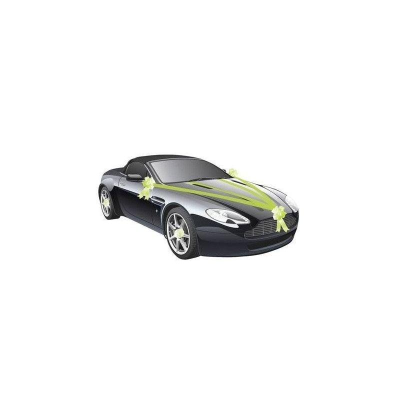 Kit de voiture 5 pièces vert lime mariage Déco festive 1401-11