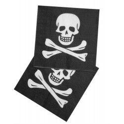 Serviettes jetables pirate 33x33 cm Déco festive B74169