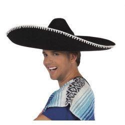 Sombrero noir Juanito adulte Accessoires de fête B95470