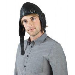 Casquette noire d'aviateur adulte Accessoires de fête B95933