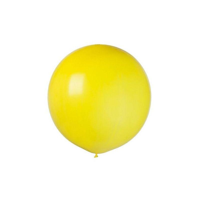 Ballon géant diamètre 64 cm jaune Déco festive BA19809JAUNE