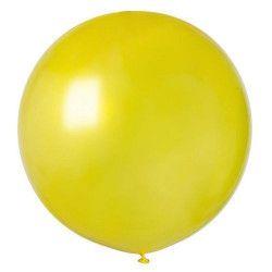 Sachet 1 ballon baudruche géant 80 cm jaune Déco festive BA19813-JAUNE
