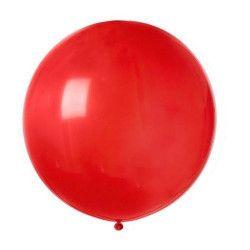 Sachet 1 ballon baudruche géant 80 cm rouge Déco festive BA19813-ROUGE