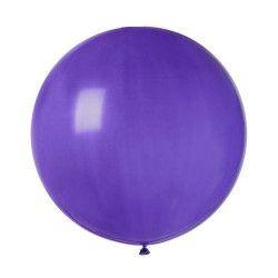 Sachet 1 ballon baudruche géant 80 cm violet Déco festive BA19813-VIOLET