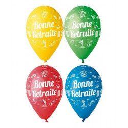 Ballons Bonne Retraite x 10 diamètre 30 cm Déco festive BA21451