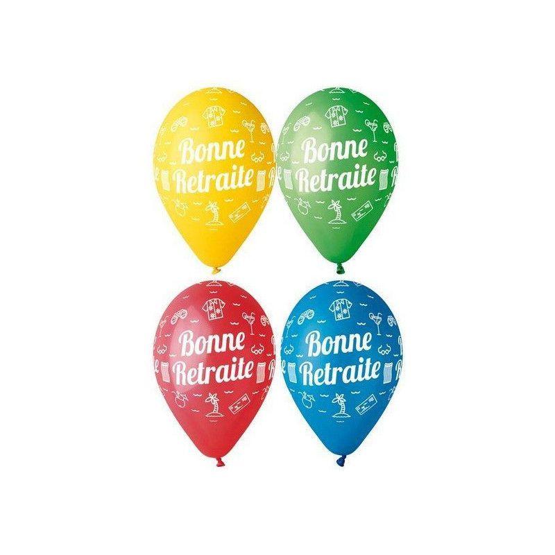 40 X Heureuse Retraite Ballons 10 Retraite Mix Party Ballons