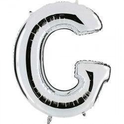 Ballon mylar argent 102 cm - Lettre G Déco festive BA23032