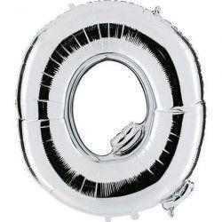 Déco festive, Ballon mylar argent 102 cm - Lettre O, BA23040, 4,50€
