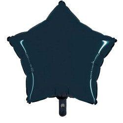 Ballon métallisé noir forme étoile 45 cm Déco festive BA23300-NOIR