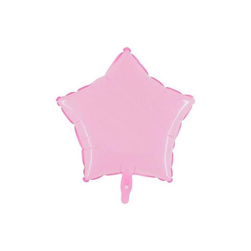 Ballon métallisé 45 cm forme étoile rose Déco festive BA23300-ROSE