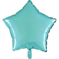 Ballon métallisé turquoise forme étoile 45 cm Déco festive BA23300TURQ