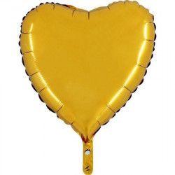 Ballon mylar 45 cm coeur or Déco festive BA23500OR
