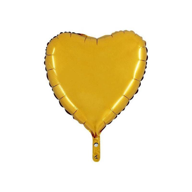 Ballon mylar coeur or 45 cm Déco festive BA23500OR