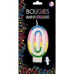 Déco festive, Bougie anniversaire chiffre 0, BG22520, 0,99€