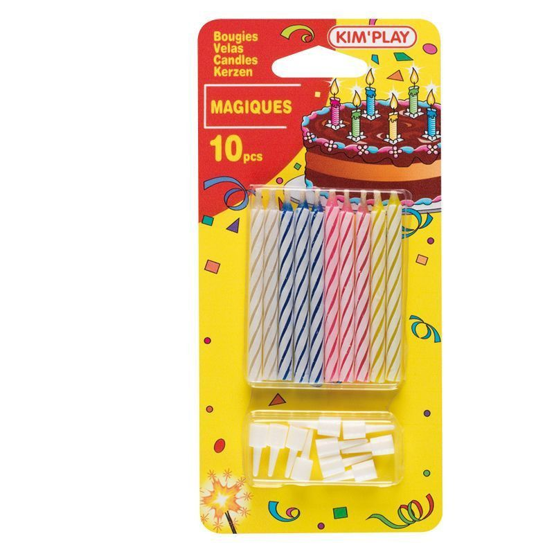 Déco festive, Bougie magique x10, BG25491, 1,29€
