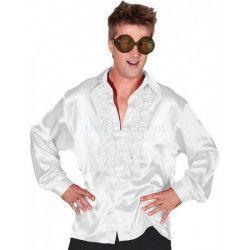 Chemise disco blanche adulte taille XXL Déguisements C4032T56