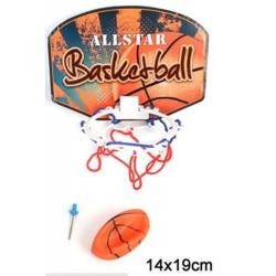 Jeu de basket avec filet et balle 14x19 cm Jouets et articles kermesse 14103