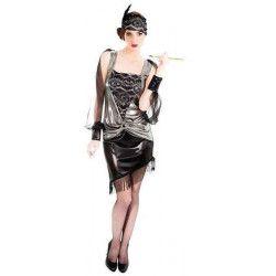 Déguisement robe charleston noire femme taille 40 Déguisements C4092T40