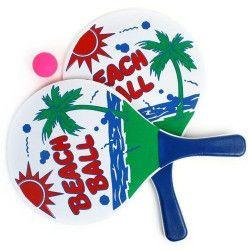 Raquettes beach ball avec 1 balle Jouets et kermesse 14110