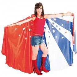 Accessoires de fête, Cape drapeau américain taille unique, C4119, 29,90€