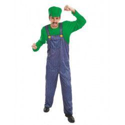 Déguisements, Déguisement plombier vert homme taille L, C4200L, 24,90€