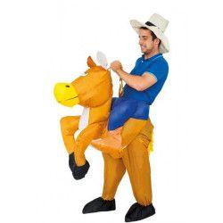 Déguisement cowboy à cheval gonflable adulte taille unique Déguisements C4219