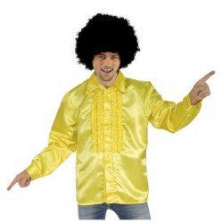 Déguisement chemise disco jaune homme taille S Déguisements C4326S