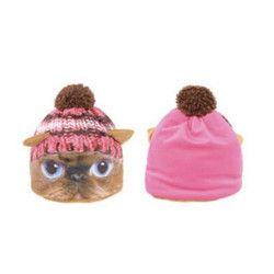 Coiffe de chat tricot rose taille unique Accessoires de fête C4334ROSE