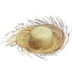 Chapeau paille naturel hawai Accessoires de fête CF615510