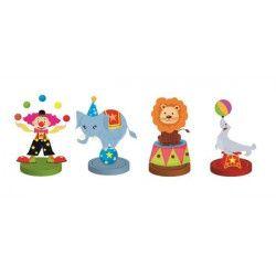 Déco festive, Set de 4 marque places cirque, CHAKS81003, 2,90€