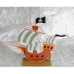 Déco festive, Centre de table bateau pirate, CHAKS81005, 7,90€
