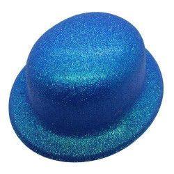 Chapeau melon fluo bleu Accessoires de fête CI2032BLEU