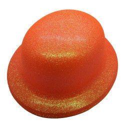 Chapeau melon fluo orange Accessoires de fête CI2032-ORANGE